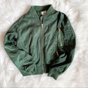 Girls forever 21 bomber jacket